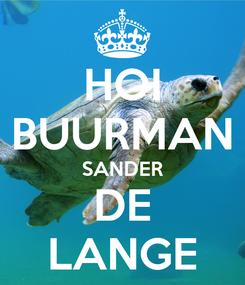 Poster: HOI BUURMAN SANDER DE LANGE