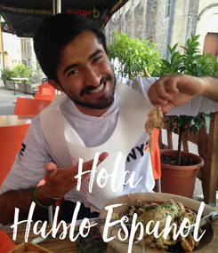 Poster: Hola Hablo Espanol