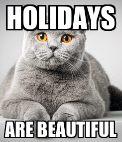 Poster: HOLIDAYS ARE BEAUTIFUL