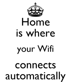 Poster: Home is where your Wifi connects automatically