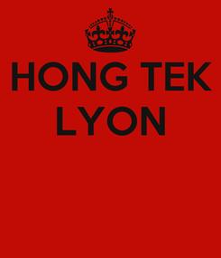 Poster: HONG TEK LYON