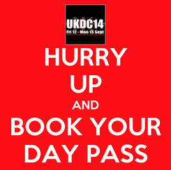 Poster: HURRY UP AND BOOK YOUR DAY PASS