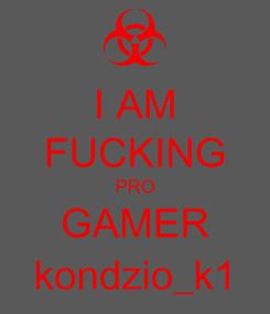 Poster: I AM FUCKING PRO GAMER kondzio_k1