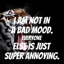 Poster: I AM NOT IN A BAD MOOD. EVERYONE ELSE IS JUST SUPER ANNOYING.
