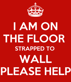 Poster: I AM ON THE FLOOR  STRAPPED TO  WALL PLEASE HELP