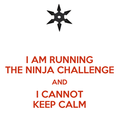 Poster: I AM RUNNING THE NINJA CHALLENGE AND I CANNOT KEEP CALM