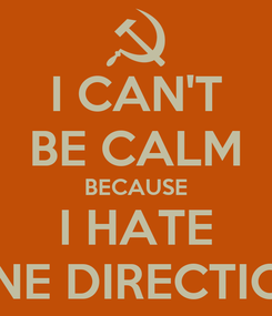 Poster: I CAN'T BE CALM BECAUSE I HATE ONE DIRECTION