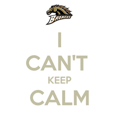 Poster: I CAN'T  KEEP CALM