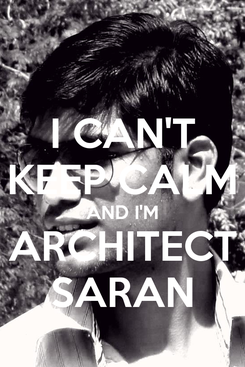 Poster: I CAN'T KEEP CALM AND I'M ARCHITECT SARAN