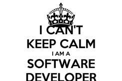 Poster: I CAN'T KEEP CALM I AM A SOFTWARE DEVELOPER