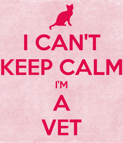 Poster: I CAN'T KEEP CALM I'M A VET