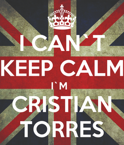 Poster: I CAN`T KEEP CALM I`M   CRISTIAN TORRES