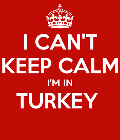 Poster: I CAN'T KEEP CALM I'M IN TURKEY