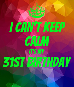 Poster: I can't keep CALM It's my 31st BIRTHDAY