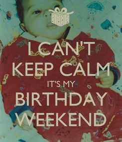 Poster: I CAN'T KEEP CALM IT'S MY BIRTHDAY WEEKEND