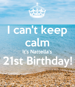 Poster: I can't keep calm It's Nattella's 21st Birthday!