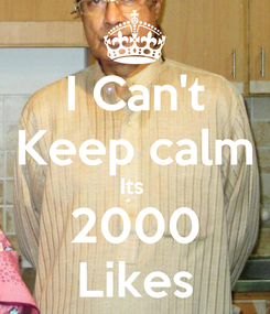 Poster: I Can't Keep calm Its  2000 Likes