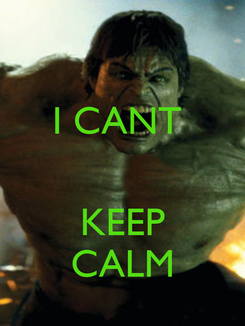 Poster: I CANT    KEEP CALM