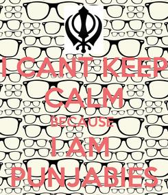 Poster: I CANT KEEP CALM BECAUSE  I AM  PUNJABIES