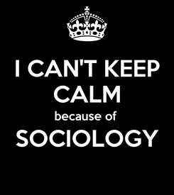 Poster: I CAN'T KEEP CALM because of  SOCIOLOGY