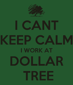 Poster: I CANT KEEP CALM I WORK AT DOLLAR  TREE