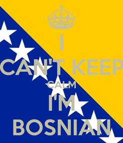 Poster: I CAN'T KEEP CALM I'M BOSNIAN