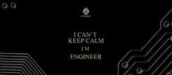 Poster: I CAN`T  KEEP CALM I`M  ENGINEER