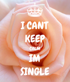 Poster: I CANT KEEP CALM IM SINGLE