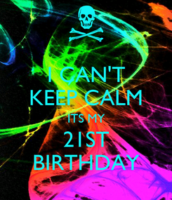 Poster: I CAN'T KEEP CALM ITS MY 21ST BIRTHDAY