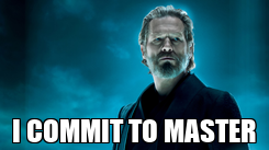 Poster:  I COMMIT TO MASTER