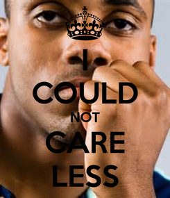 Poster: I COULD NOT CARE LESS