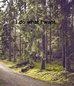 Poster: I do what I want