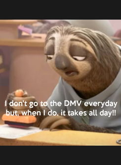 Poster:    I don't go to the DMV everyday but, when I do, it takes all day!!