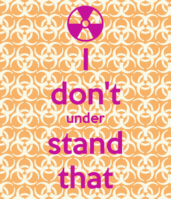 Poster: I don't under stand that