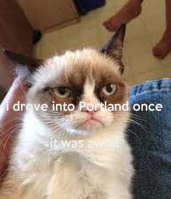 Poster:  i drove into Portland once   it was awful