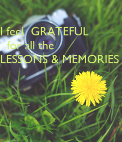 Poster: I feel  GRATEFUL
