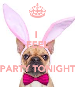 Poster: I  FEEL   PARTY TONIGHT