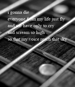 Poster: i gonna die