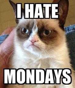 Poster: I HATE MONDAYS