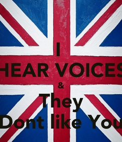 Poster: I  HEAR VOICES & They Dont like You
