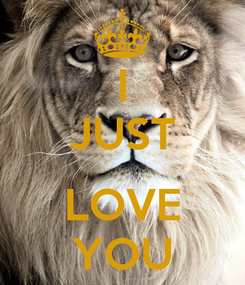 Poster: I JUST  LOVE YOU