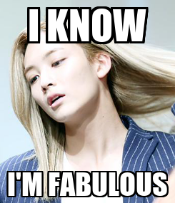 Poster: I KNOW I'M FABULOUS
