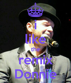 Poster: i like the remix Donnie
