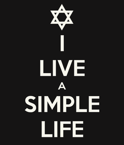 Poster: I LIVE A SIMPLE LIFE