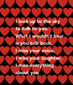 Poster: I look up to the sky