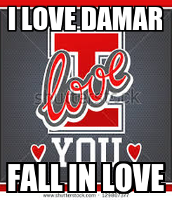 Poster: I LOVE DAMAR FALL IN LOVE