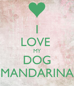 Poster: I LOVE  MY DOG MANDARINA