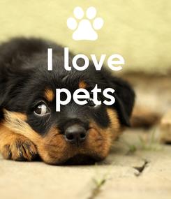 Poster: I love pets
