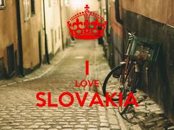 Poster:  I LOVE SLOVAKIA
