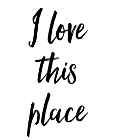 Poster: I love this place